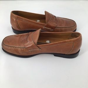 Tommy Bahama Men's Brown Leather Loafers Size 8.M